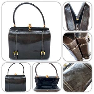 Vintage Women's Alligator Leather Doctor Handbag